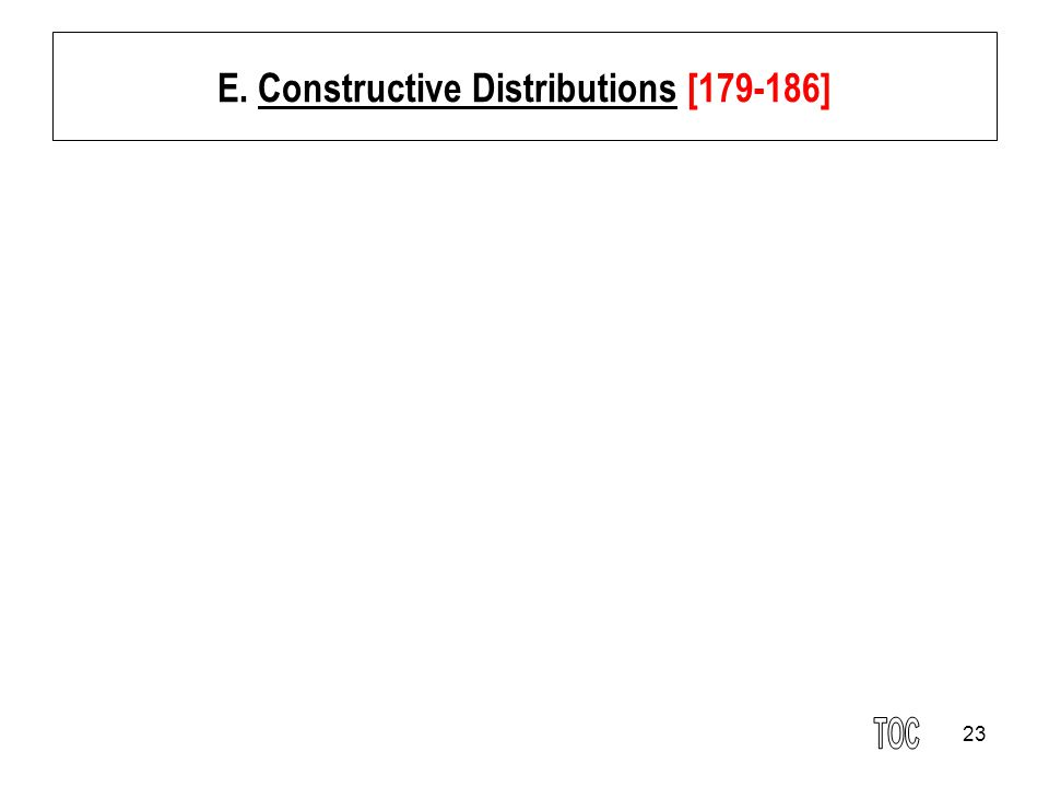 E. Constructive Distributions [179-186]